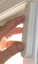 installing a magnetic door contact